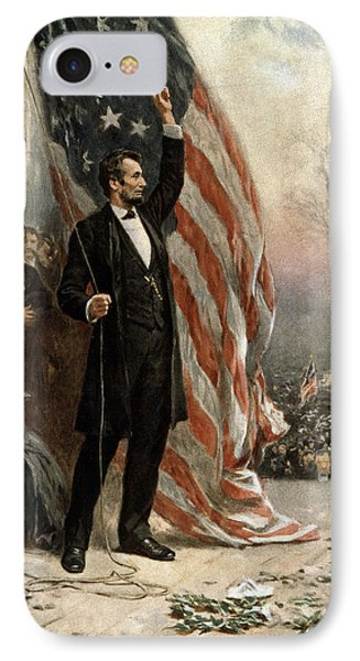 President Abraham Lincoln - American Flag IPhone Case by International  Images