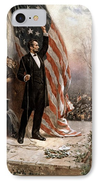 President Abraham Lincoln Giving A Speech Phone Case by War Is Hell Store