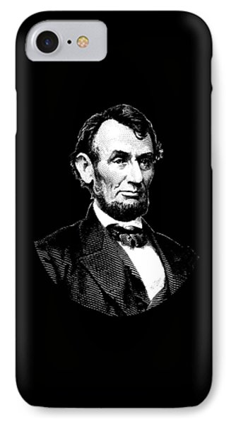 President Abraham Lincoln Graphic - Black And White IPhone Case
