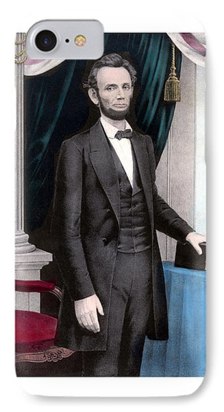 President Abraham Lincoln In Color Phone Case by War Is Hell Store