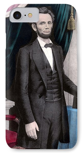 Abraham Lincoln iPhone 7 Case - President Abraham Lincoln In Color by War Is Hell Store