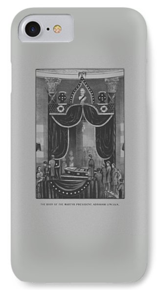 President Abraham Lincoln Lying In State IPhone Case by War Is Hell Store