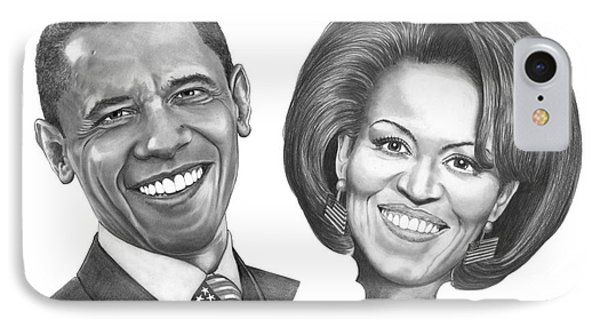 President And First Lady Obama Phone Case by Murphy Elliott