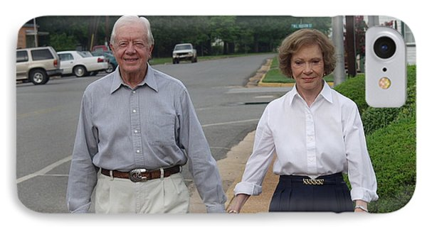 IPhone Case featuring the photograph President And Mrs. Jimmy Carter by Jerry Battle