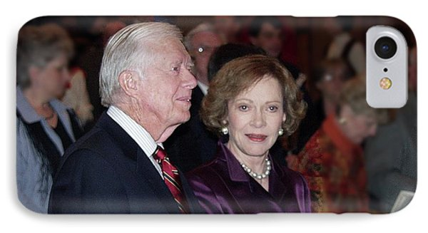 IPhone Case featuring the photograph President And Mrs. Jimmy Carter Nobel Celebration by Jerry Battle