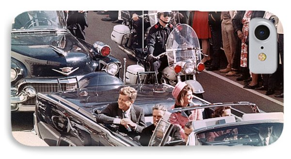 President And Mrs Kennedy In Dallas, Texas. IPhone Case