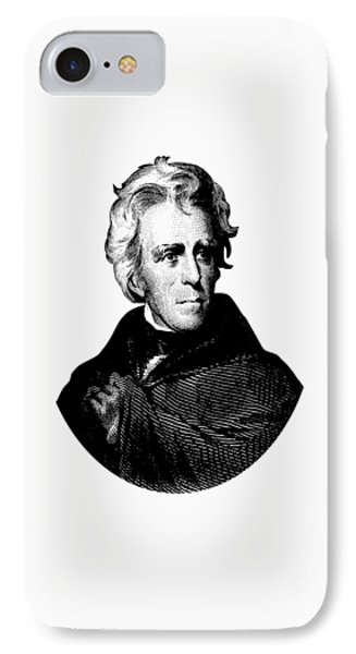 President Andrew Jackson Graphic Black And White IPhone Case by War Is Hell Store
