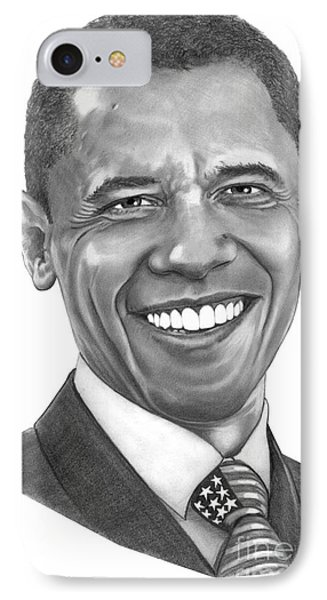 President Barack Obama By Murphy Art. Elliott IPhone Case