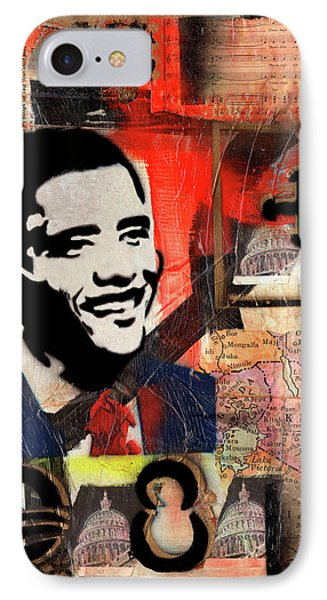 President Barack Obama IPhone Case by Everett Spruill