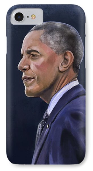 President Barack Obama IPhone Case by Mark Monroy