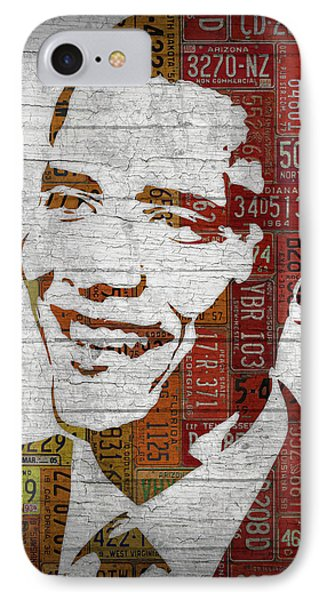 President Barack Obama Portrait United States License Plates IPhone 7 Case by Design Turnpike