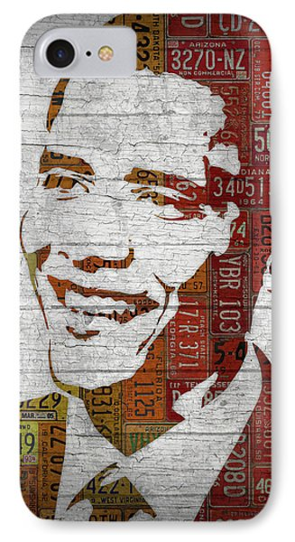 President Barack Obama Portrait United States License Plates IPhone Case by Design Turnpike