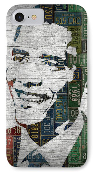 President Barack Obama Portrait United States License Plates Edition Two IPhone 7 Case by Design Turnpike