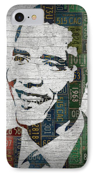 President Barack Obama Portrait United States License Plates Edition Two IPhone Case by Design Turnpike