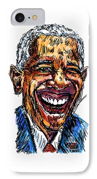President Barack Obama IPhone Case by Robert Yaeger