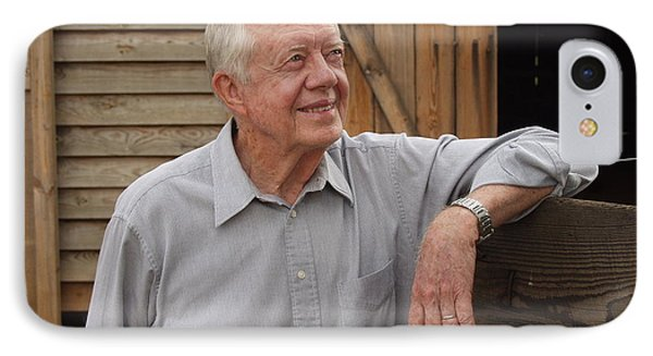 IPhone Case featuring the photograph President Carter At His Boyhood Farm by Jerry Battle