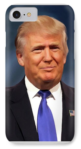 President Donald John Trump Portrait IPhone Case by Movie Poster Prints