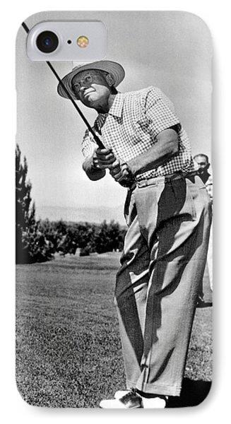President Eisenhower Golfing IPhone Case by Underwood Archives