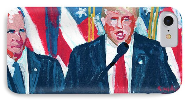 President Elect Donald Trump And Vice President Elect Mike Pence  IPhone Case by Candace Lovely