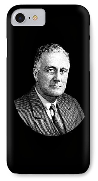 President Franklin Roosevelt Graphic IPhone Case by War Is Hell Store