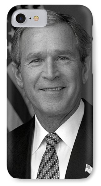 President George W. Bush IPhone Case by War Is Hell Store