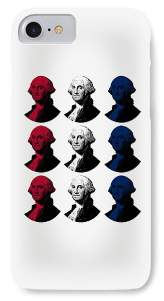 President George Washington - Red, White, And Blue  IPhone Case