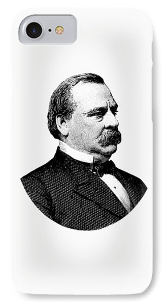 President Grover Cleveland - Black And White IPhone Case by War Is Hell Store
