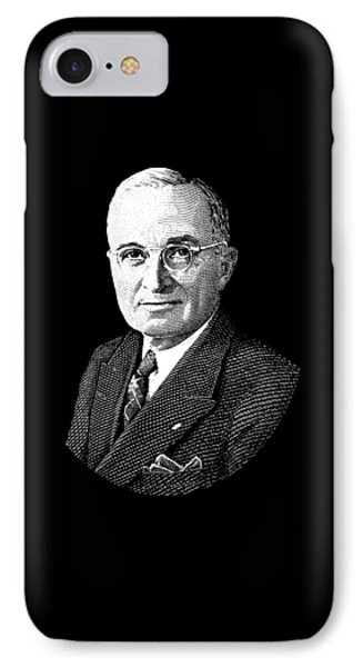 President Harry Truman Graphic IPhone Case by War Is Hell Store