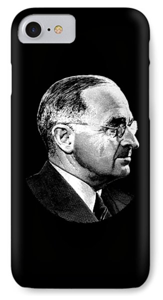 President Harry Truman Profile Portrait IPhone Case by War Is Hell Store