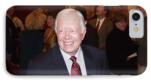 IPhone Case featuring the photograph President Jimmy Carter - Nobel Peace Prize Celebration by Jerry Battle