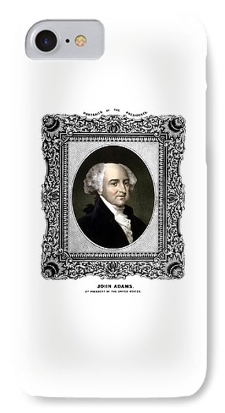 President John Adams Portrait  IPhone Case by War Is Hell Store