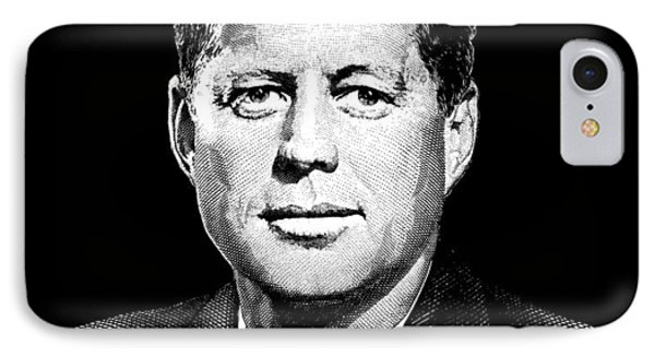 President John F. Kennedy Graphic Black And White  IPhone Case