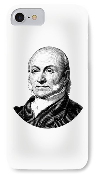 President John Quincy Adams Graphic  IPhone Case by War Is Hell Store