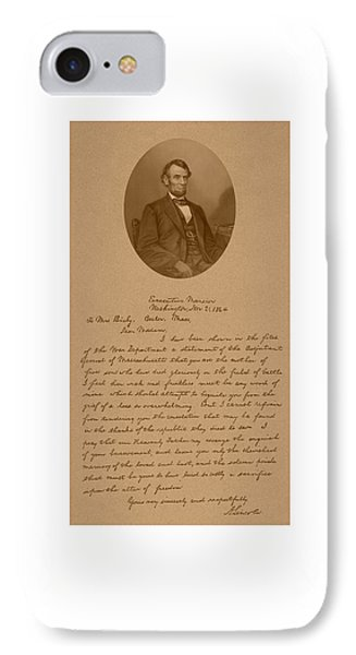 President Lincoln's Letter To Mrs. Bixby IPhone Case