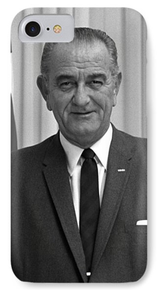 President Lyndon Johnson IPhone Case by War Is Hell Store