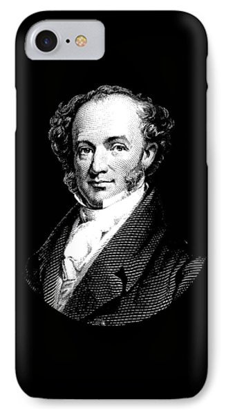 President Martin Van Buren Graphic - Black And White IPhone Case by War Is Hell Store