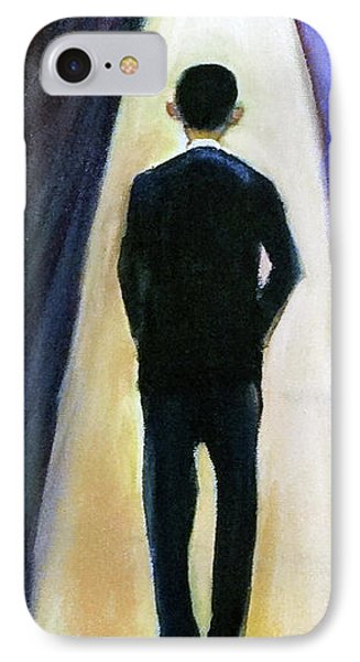 President Obama End Of Day IPhone Case by Ecinja Art Works