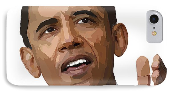 President Obama IPhone Case by Richard Newland
