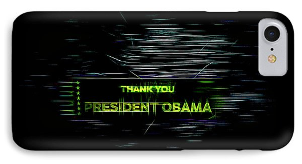 President Obama IPhone Case by Spencer McDonald