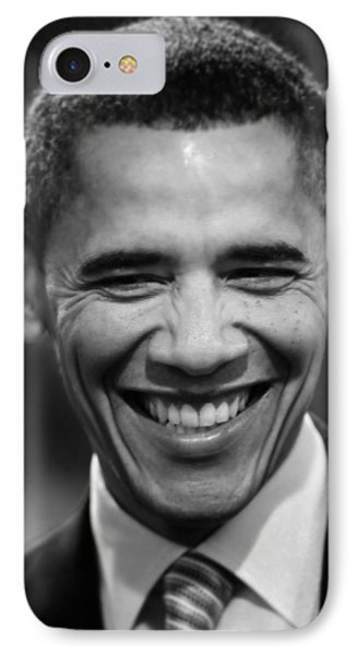 President Obama V IPhone Case by Rafa Rivas