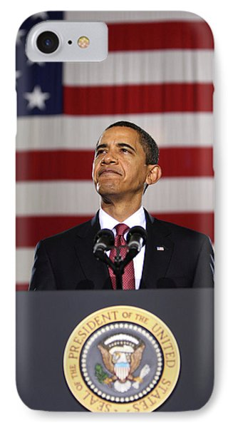 President Obama IPhone Case by War Is Hell Store