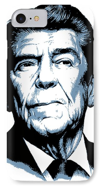 President Reagan IPhone Case by Greg Joens