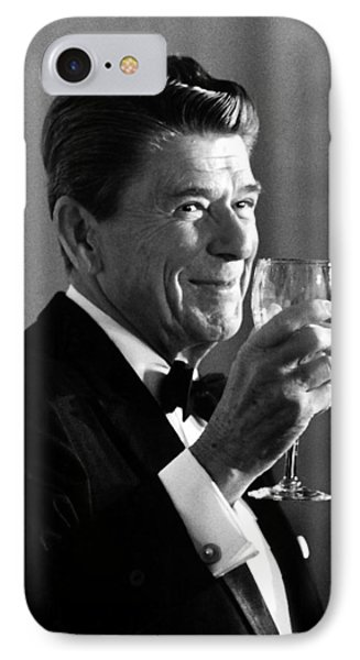 President Reagan Making A Toast IPhone Case