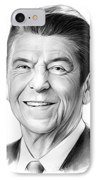 President Ronald Reagan IPhone Case by Greg Joens