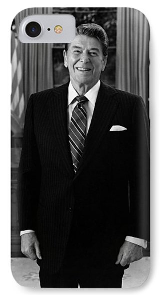 President Ronald Reagan In The Oval Office Phone Case by War Is Hell Store