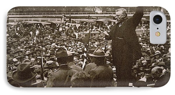 President Theodore Roosevelt Speaking At A Recruiting Rally In June 1917 IPhone Case by American School