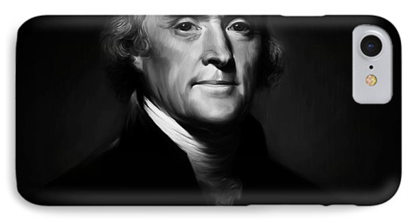 President Thomas Jefferson 004 IPhone Case by Gull G