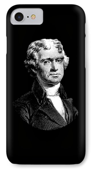 President Thomas Jefferson - Black And White IPhone Case by War Is Hell Store