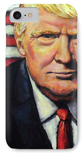 President Trump IPhone Case by Carole Foret