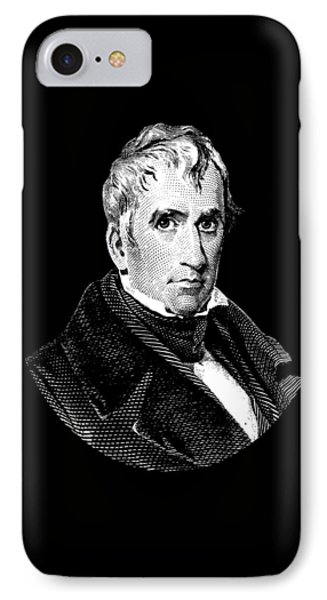 President William Henry Harrison Graphic - Black And White IPhone Case by War Is Hell Store